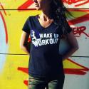 """SPIDER INSTINCT Tee Shirt V Sportswear """"Wake Up & Workout"""""""