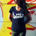 "SPIDER INSTINCT T-Shirt V ""Wake Up & Workout"""