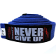 """SPIDER INSTINCT BJJ Belt """"Never Give Up"""" Blue"""