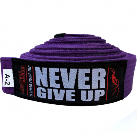"SPIDER INSTINCT Ceinture JJB ""Never Give Up"" Violet"