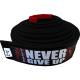 """SPIDER INSTINCT BJJ Belt """"Never Give Up"""" Black"""